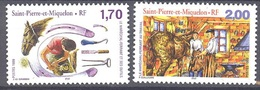 SAINT PIERRE ET MIQUELON 1999 - CABALLOS . HORSES - CHEVAUX - YVERT Nº 689-690** - Horses