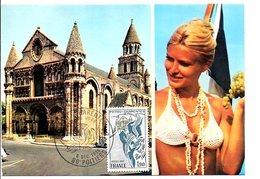 CARTE MAXIMUM 1975 REGION POITOU-CHARENTES - Maximum Cards