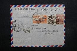EGYPTE - Enveloppe Commerciale Du Caire Pour La France En 1954, Affranchissement Plaisant  - L 32032 - Lettres & Documents