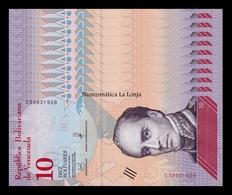 Venezuela Lot Bundle 10 Banknotes 10 Bolívares 2018 Pick 103 SC UNC - Venezuela