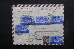 EGYPTE - Enveloppe Commerciale Du Caire Pour La France En 1954, Affranchissement Plaisant  - L 32034 - Lettres & Documents