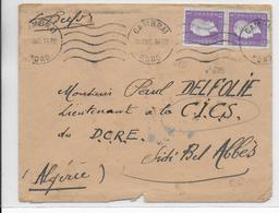 1945 - ENVELOPPE De CAMBRAI (NORD) => SIDI BEL ABBES (ALGERIE) - DULAC - Postmark Collection (Covers)