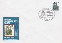 PU 315/2  Bremer Briefmarken Börse 1991 Statdhalle Bremen - Rang 2, Bremen 1 - BRD