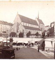 AK-0880/ Basel Alte Kirche Der Franziskaner   Stereofoto V Alois Beer ~ 1900 - Stereoscopic