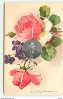 N°11602 - Carte Illustrateur - Catharina Klein - Roses - Enfants Dans Un Médaillon - Klein, Catharina