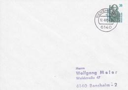PU 315/1  Blanko Umschlag Mit 38 Pf Sehenswürdigkeiten, Bensheim 2 - BRD