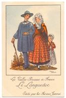 CP - Folklore Costume - Les Vieilles Provinces De France - Languedoc - Illustr Jean Droit - Pub Reclame Farines Jammet - Costumes