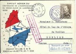 Circuit Aérien Du Centenaire De L'indépendance Du Grand Duché De Luxembourg ( D'Esch - S - Alz à Clervaux ) 1939 - 1939-1945: 2ème Guerre