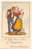 CP - Folklore Costume - Les Vieilles Provinces De France - L'Angoumois - Illustr Jean Droit - Pub Reclame Farines Jammet - Costumes