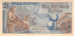 2 1/2 Rupia Banknote Indonesien 1961 UNC - Indonesien