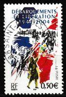 """FRANCE : N° 3675 Oblitéré """"TàD Rond"""" (60ème Anniversaire Du Débarquement Et De La Libération) - PRIX FIXE - - France"""