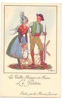 CP - Folklore Costume - Les Vieilles Provinces De France - Le Poitou - Illustr Jean Droit - Pub Reclame Farines Jammet - Costumes