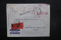 EGYPTE - Enveloppe Commerciale En Recommandé Du Caire En 1956 Pour La France , Affranchissement Mécanique - L 32038 - Lettres & Documents