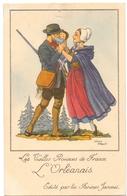 CP - Folklore Costume - Les Vieilles Provinces De France - L'Orléanais - Illustr Jean Droit - Pub Reclame Farines Jammet - Costumes