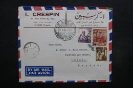 EGYPTE - Enveloppe Commerciale Du Caire En 1956 Pour La France , Affranchissement Plaisant - L 32039 - Lettres & Documents