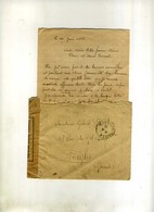 - FRANCE . CONTROLE POSTAL MILITAIRE AVEC TRESOR ET POSTES SUR LETTRE CM DE 1918 AVEC COURRIER . - Marcofilie (Brieven)