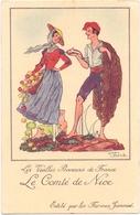 CP - Folklore Costume - Les Vieilles Provinces De France - Nice - Illustr Jean Droit - Pub Reclame Farines Jammet - Costumes