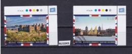 """ONU Vienna 2018: Serie Di 2 Valori Timbrati """"UNESCO, Patrimonio Mondiale Dell'umanità. Regno Unito"""" - Vienna – International Centre"""