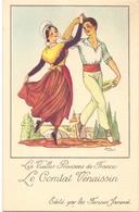 CP - Folklore Costume - Les Vieilles Provinces De France - Le Comtat Vénaissin - Illustr Jean Droit - Pub Farines Jammet - Costumes