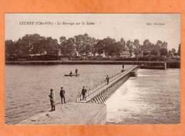 CPA * * SEURRE * * Le Barrage Sur La Saône - France