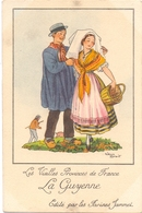 CP - Folklore Costume - Les Vieilles Provinces De France - La Guyenne - Illustr Jean Droit - Pub Reclame Farines Jammet - Costumes