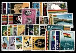 (023-29) Ghana / Lot Ex 1959 / Flags / Animals / Lincoln / UN / Football Etc.  ** / Mnh  Michel 39//72 - Ghana (1957-...)