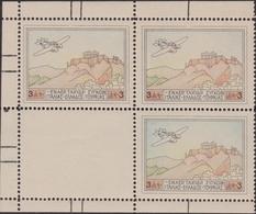 """268 ** 1926 – Grecia Idrovolante """"S 55 Savoia Marchetti"""" Blocco Di Quattro Con Tre Esemplari Ed Uno Bianco. Il Solo 3d. - Posta Aerea"""