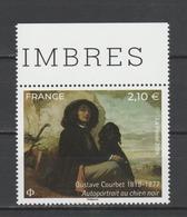 """FRANCE / 2019 / Y&T N° 5333 ** : """"Autoportrait Au Chien Noir"""" (Gustave Courbet) X 1 BdF Haut - France"""