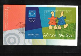 Greece / Griechenland 2003 Olympic Games Greece Block FDC - Sommer 2004: Athen