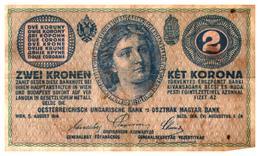 Billets > Hongrie >  2 Korona 1914 (peu Commun) - Hungary