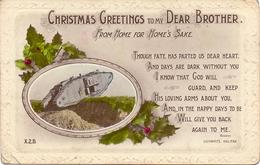 Pc - Christmas Greetings - Noel - Tank - Char - War 1914-18