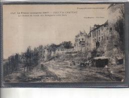 Carte Postale 02. Coucy-le-chateau  L Chamin De Ronde Remparts Du Chateau Très Beau Plan - Autres Communes