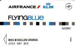 Air France KLM Flying Blue Magnetic Card, Ivory, Skyteam Elite - Moteurs