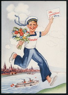 AK/CP Werbung  Reklame  Blendax  Zahnpasta   Gel/circ.  1937   Erhaltung/Cond. 2  Nr. 00812 - Pubblicitari
