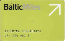 Latvia Baltic Milles Magnetic Card, - Moteurs