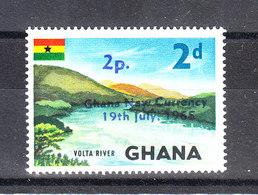 Ghana - 1965. Volta River. With Overprint. MNH - Geografia