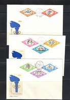 Poland / Polen 1964 Olympic Games Tokyo Imperforated Set FDC - Sommer 1964: Tokio