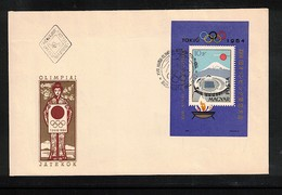 Hungary / Ungarn 1964 Olympic Games Tokyo Michel Block 43A FDC - Sommer 1964: Tokio