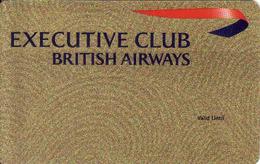 British Airways, Executive Club, Magnetic Card - Moteurs