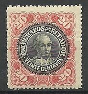 ECUADOR Telegrafos Telegraph Stamp 20 C. Balinas MNH - Ecuador