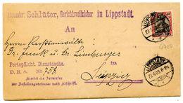 Nr. 75 Gute EF Gerichtsvollzieher Dienstsache Aus LIPPSTADT 1903 - Michel 75 € - Briefe U. Dokumente