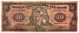 Billets >   Equateur,  > 10 Sucres 1982 - Ecuador