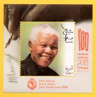 ALGERIA ALGERIE 2018 - 1 Mini-sheet  Nelson Mandela - Pan African Postal Union Joint Issue Emission Commune South Africa - Emissioni Congiunte