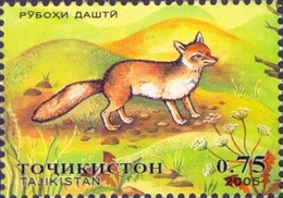 Tajikistan - Steppe Fox (Alopex Corsac), Stamp, MINT, 2005 - Dogs