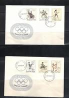Yugoslavia / Jugoslawien 1968 Olympic Games Mexico FDC - Sommer 1968: Mexico