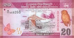 20 Rupien Sri Lanka 2010 UNC - Sri Lanka