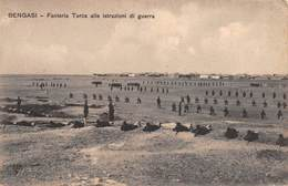 """M08207 """"BENGASI-FANTERIA TURCA ALLE ISTRUZIONI DI GUERRA(LIBIA-GUERRA ITALO-TURCA) """" ANIMATA CART. ORIG. NON SPED. - Altre Guerre"""
