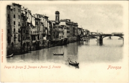 CPA Firenze Tergo Di Borgo S.Jacopo E Ponte S. Trinitá ITALY (801743) - Firenze