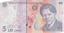 5 Lei Rumänien 2005 AU/EF (II) Polymer - Rumänien
