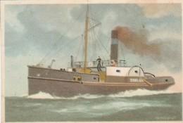 Zeeland, Ned. Radersleepboot 1874, Captain Grant Shag Chromo - Cigarette Cards